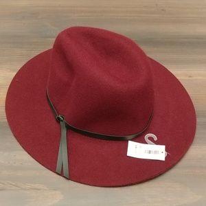 NWT Old Navy dark red / maroon boho wide brim hat